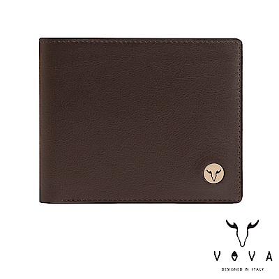VOVA 費城系列5卡窗格皮夾-煙草棕