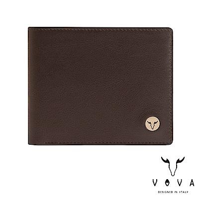 VOVA 費城系列8卡皮夾-煙草棕