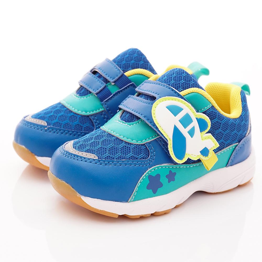 雨傘牌 健康機能運動鞋款 EI83574藍色(中小童段)
