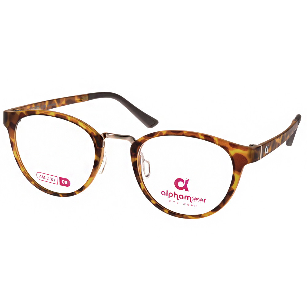 Alphameer光學眼鏡 韓國塑鋼系列/玳瑁琥珀#AM3101 C09