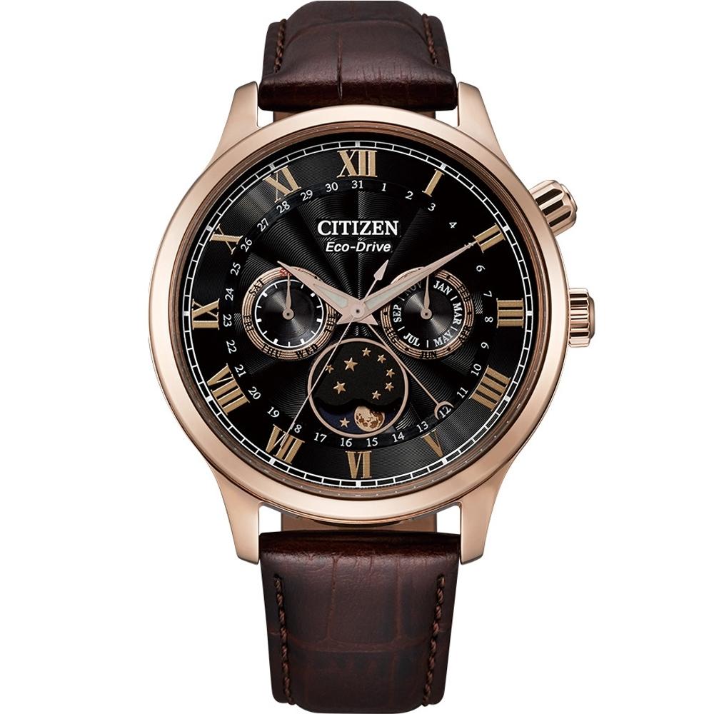 CITIZEN星辰 Eco-Drive 極光月相時尚大錶面腕錶(AP1059-19E)-42mm