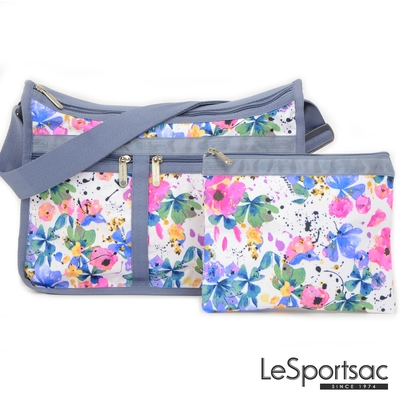 LeSportsac - Standard 雙口袋A4大書包-附化妝包 (花卉彩繪)