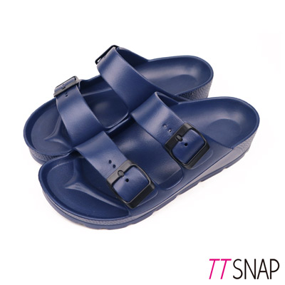 TTSNAP拖鞋-MIT輕量運動休閒拖鞋 深藍