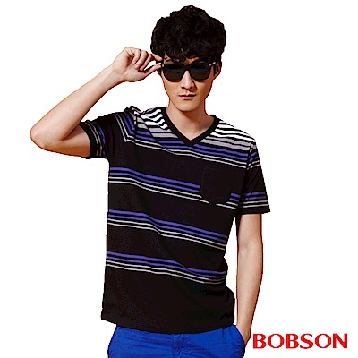 BOBSON 男款條紋上衣