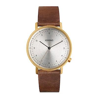 KOMONO Lewis 李維斯系列腕錶-布朗棕