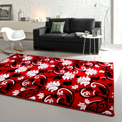 范登伯格 - 天王星 立體層次現代地毯 - 緋紅 (160 x 240cm)