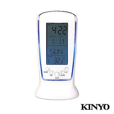 KINYO液晶萬年曆數字鐘TD335