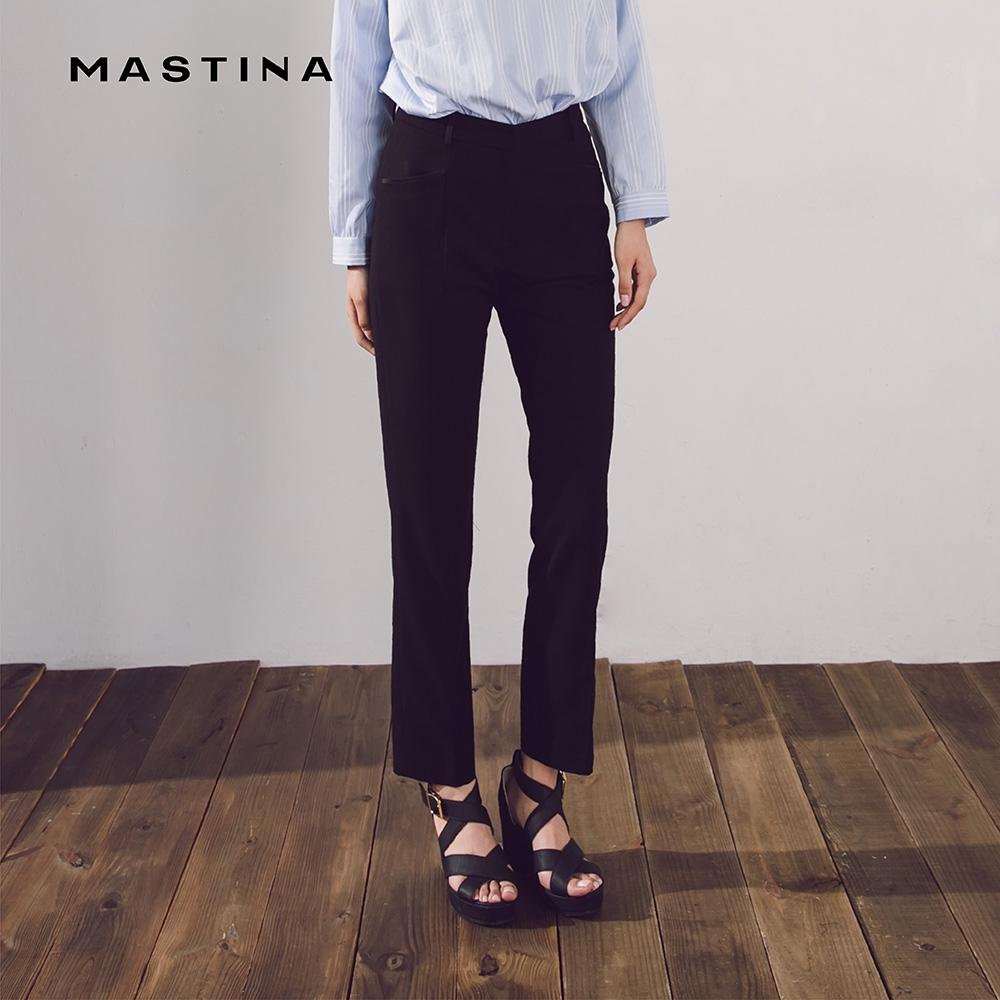 【MASTINA】上班族系列修身窄管-長褲(黑色)