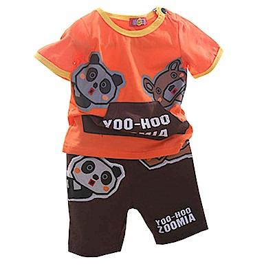 動物貼布短袖套裝 k50285 魔法Baby