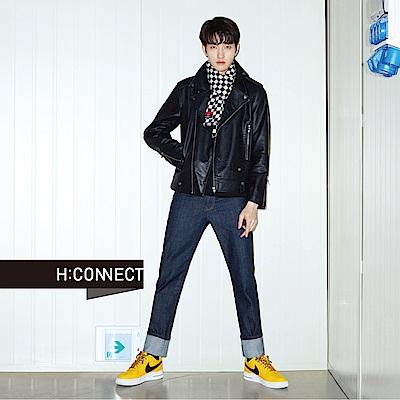 H:CONNECT 韓國品牌 男裝-帥氣修身騎士外套-黑