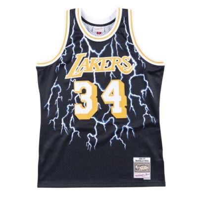 M&N Lightning Swingman復古球衣 湖人隊 96-97 #34