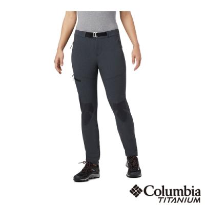 Columbia 哥倫比亞 女款- 鈦 Omni Shield防潑長褲-黑色
