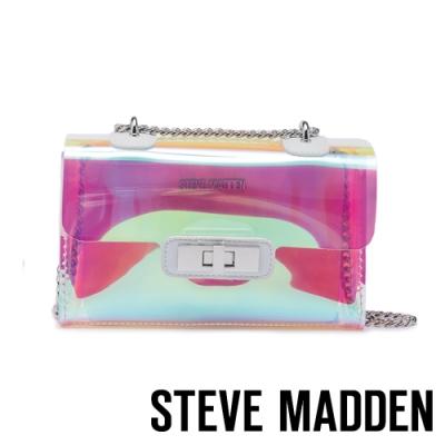 STEVE MADDEN-BSCENE-L 時尚輕量閃亮鍊條子母包-透明色