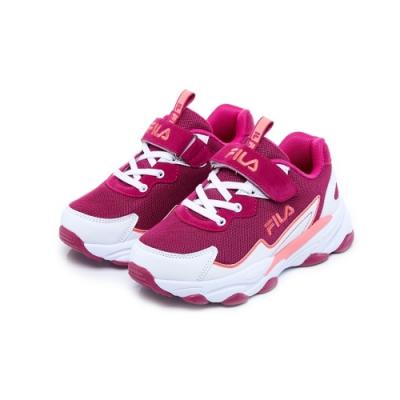FILA KIDS 大童MD復古運動鞋-桃紫 3-J805U-125