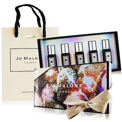 Jo Malone耶誕舞會香水組9MLX5夜來香玫瑰與烏木茉莉沒藥烏木提袋