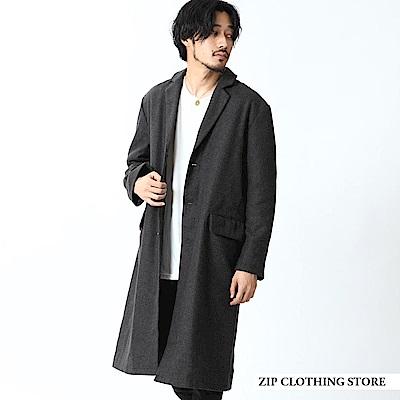 寬版西裝長大衣外套(5色) ZIP日本男裝