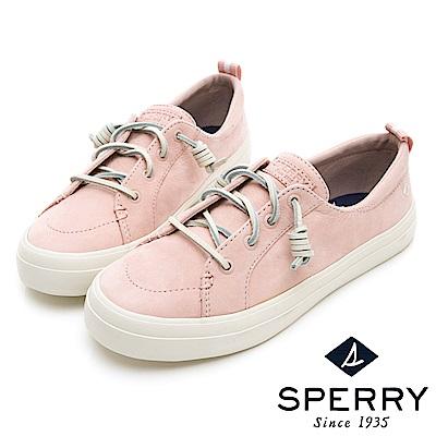 SPERRY 經典復古甜心粉嫩牛皮帆布鞋(女)-粉色