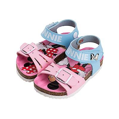 迪士尼童鞋 米妮 經典扣帶涼鞋-粉