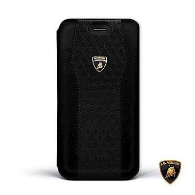 iPhone Xs Max 藍寶堅尼側翻磁扣皮套 - 暗夜黑