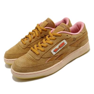 Reebok 休閒鞋 Club C Revenge MU 男鞋 聯名 麂皮 經典卡通 傑利鼠 穿搭 棕 粉 FW4632