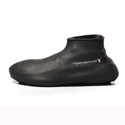 Y.A.S美鞋神器 矽膠防水止滑雨鞋套-黑