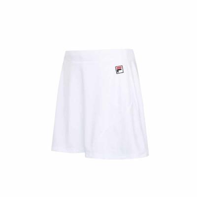 FILA 女抗UV吸濕排汗短裙-白色 5SKU-5009-WT