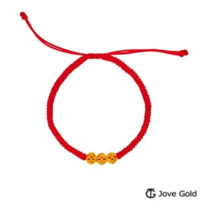 Jove Gold 漾金飾 三世情緣黃金繩手鍊