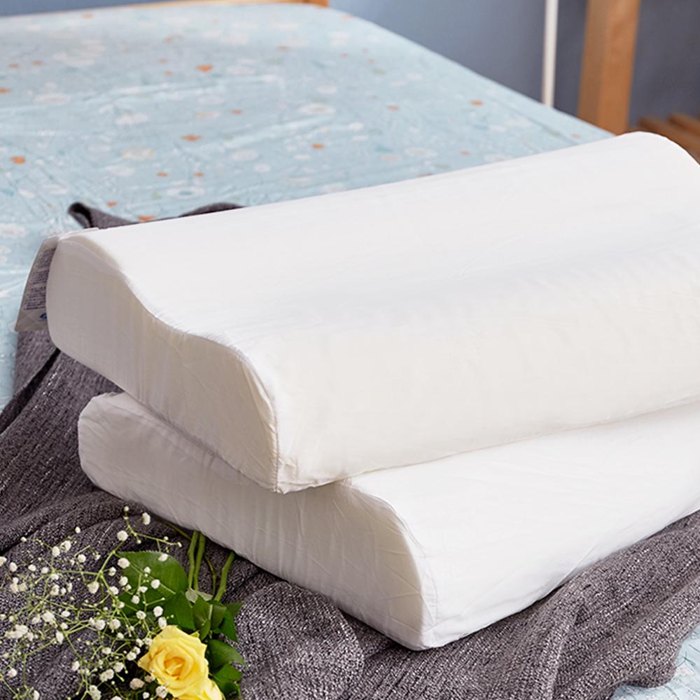 戀家小舖 / 枕頭  高迴彈環保乳膠枕-兩入組  100%天然乳膠  台灣製