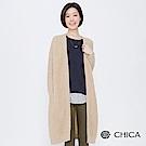 CHICA 翻轉棉花糖圈圈毛長版針織外套(2色)