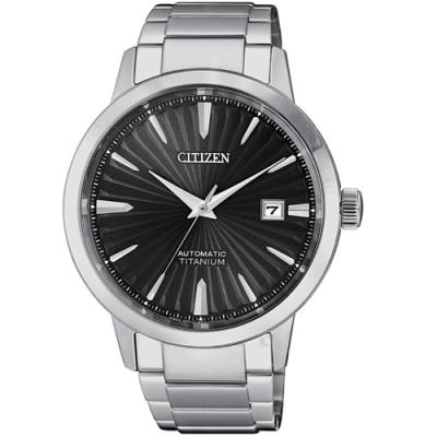CITIZEN星辰輕熟雅痞機械錶(NJ22180-89H)-黑