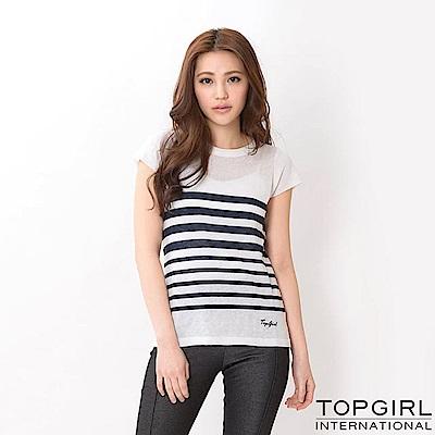 【TOPGIRL】針織短袖上衣-丈青