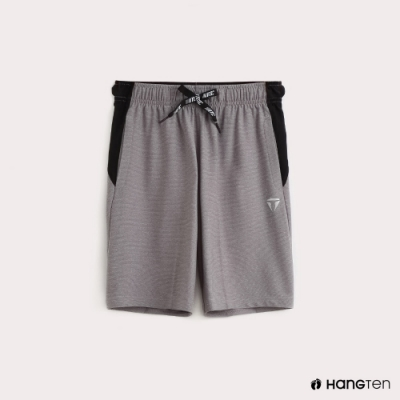 Hang Ten-童裝-ThermoContro-抽繩拼接機能休閒短褲-灰
