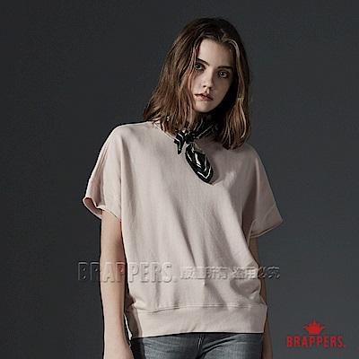 BRAPPERS 女款 休閒寬鬆短袖上衣-淺粉