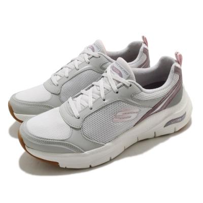 Skechers 休閒鞋 Gentle Stride 健走 女鞋 Arch Fit 足科醫生推薦鞋墊 專利 灰 紫 149413LGPR