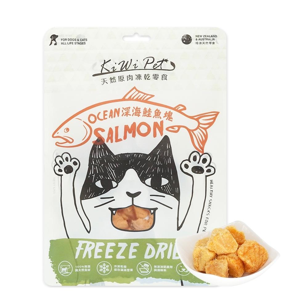 KIWIPET 天然零食 貓咪冷凍乾燥系列 深海鮭魚塊 45g