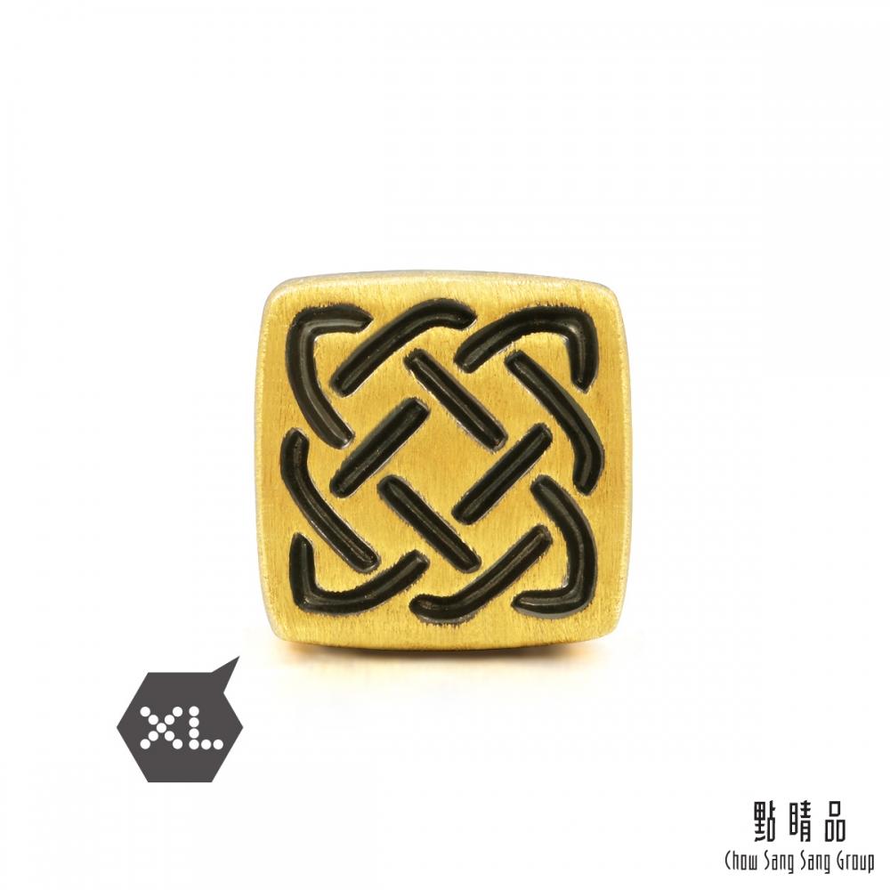 點睛品 Charme XL 酷黑系列 守護 黃金串珠