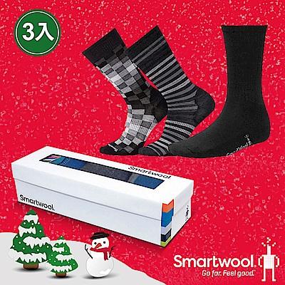 SmartWool Trio 男款經典襪組 灰色系