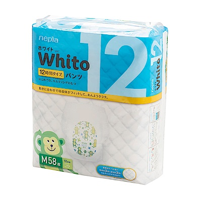 Nepia Whito王子白色系列褲型紙尿褲 日本境內十二小時版 M 58片x3包/箱