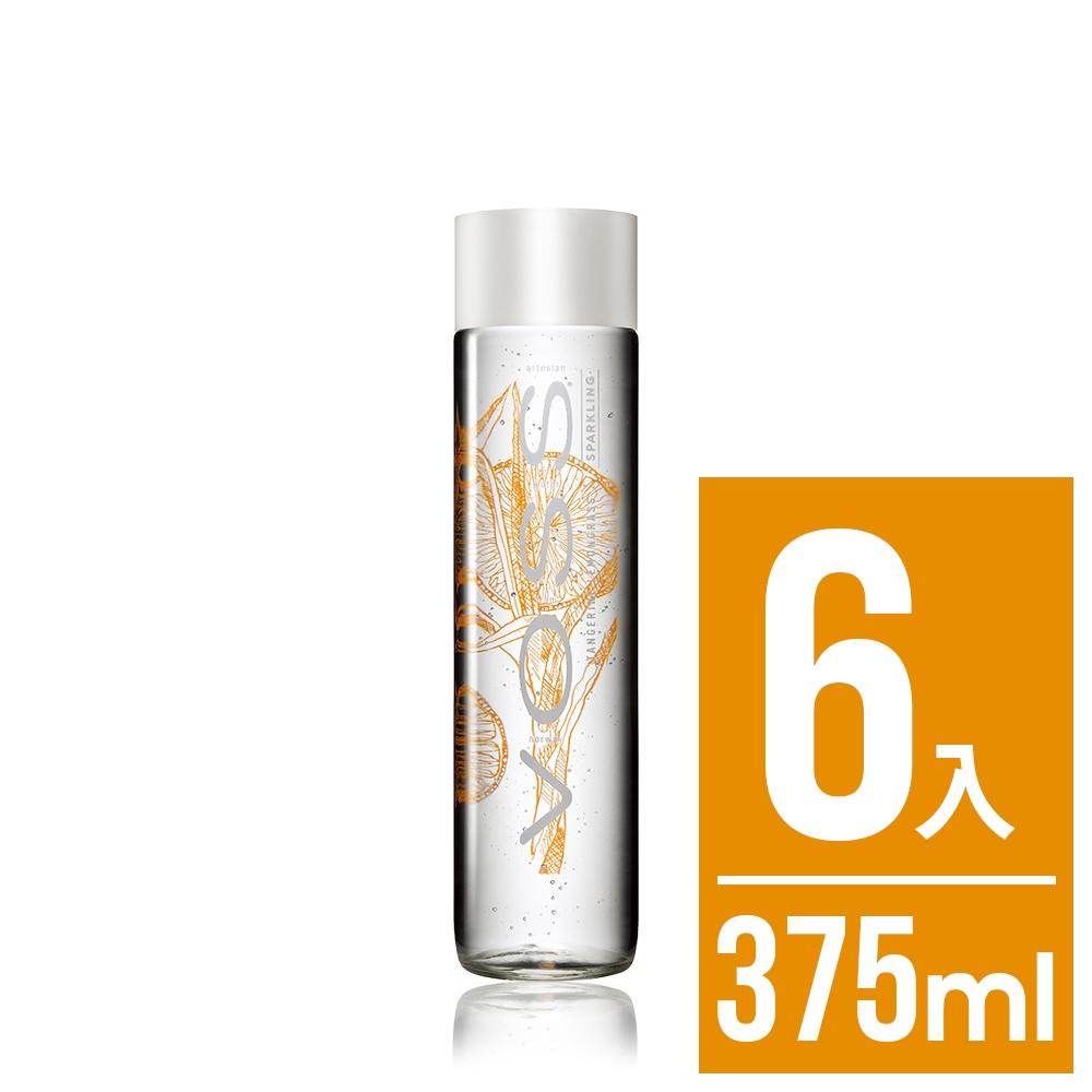 VOSS挪威芙絲 柑橘檸檬草風味氣泡水(時尚玻璃瓶6入x375ml)
