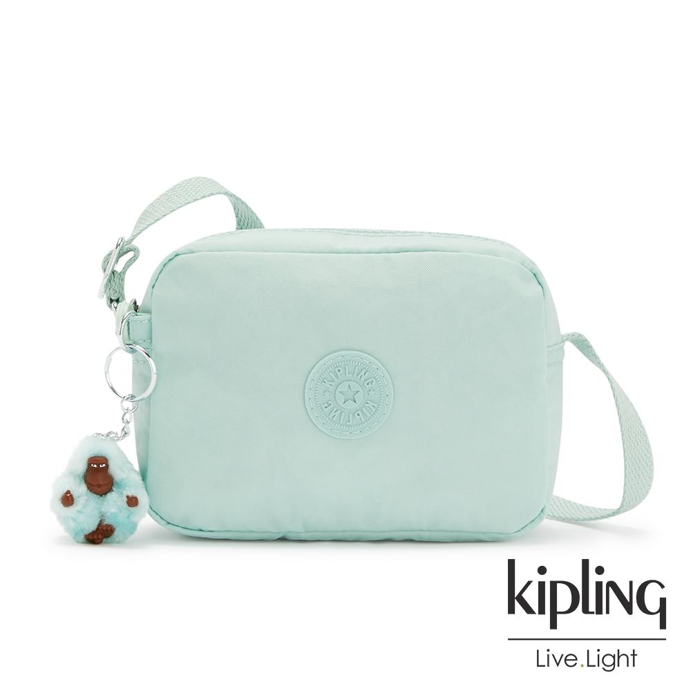 Kipling 神秘薄荷藍簡約造型拉鍊方包-BETHANY
