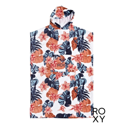 【ROXY】STAY MAGICAL PRINTED 浴巾衣 白色