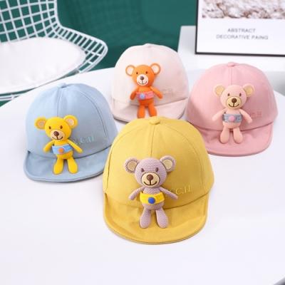 Baby童衣 男寶寶 女寶寶 夏季防曬帽 小熊造型鴨舌帽 88657