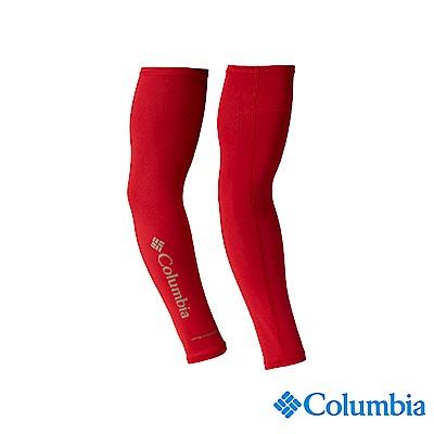 Columbia哥倫比亞男款-UPF50涼感快排袖套-紅色 USU90900RD