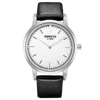 Watch-123 優雅線條元素紳士風度手錶 (4色任選)