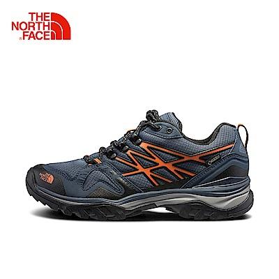 The North Face北面男款紅色防水透氣徒步鞋