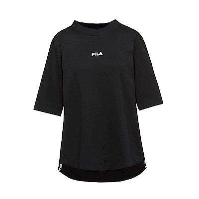 FILA #漢城企劃 短袖純棉圓領T恤-黑 5TET-1422-BK