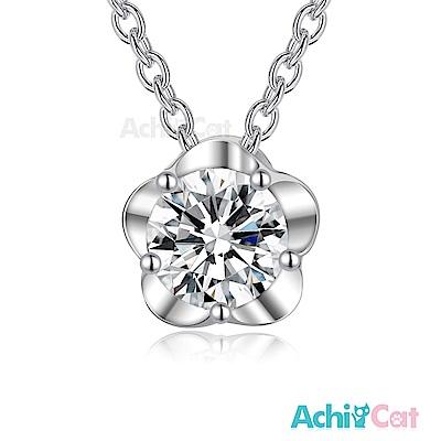 AchiCat 925純銀項鍊 盛開花朵
