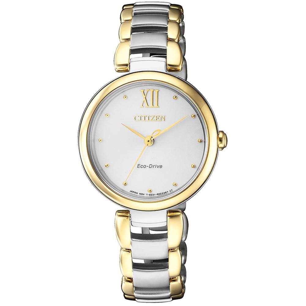 CITIZEN L系列璀璨光動能時尚腕錶/EM0534-80A