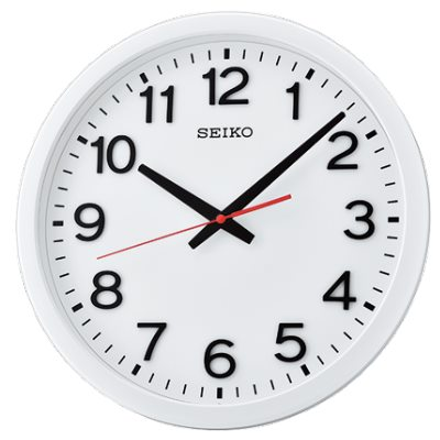 SEIKO 日本精工 滑動式秒針 靜音掛鐘(QXA732W)-白/35cm