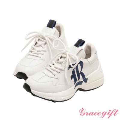 Grace gift-哈利波特雷文克勞學院休閒老爹鞋 深藍